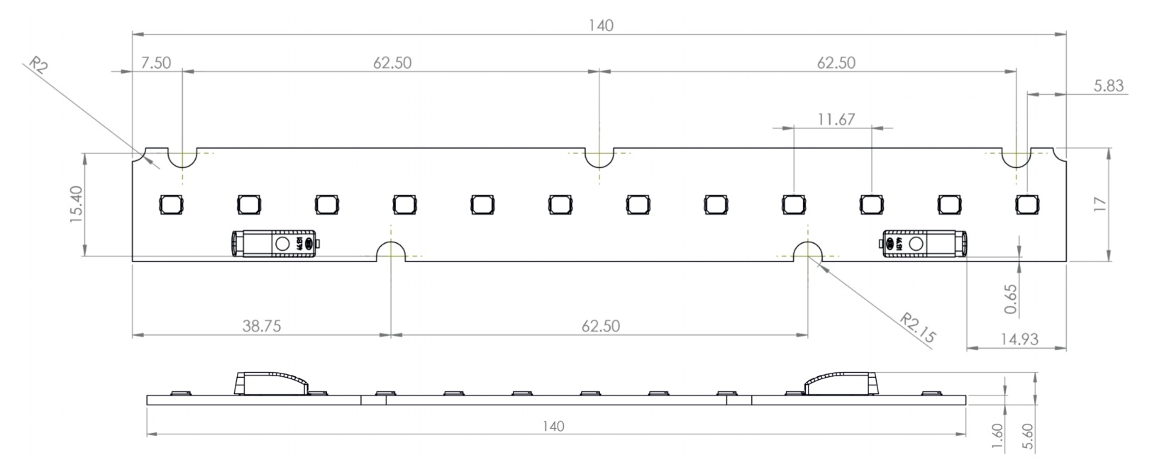 LED moduliai bendram apšvietimui
