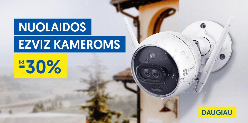 Akcija! EZVIZ kameroms nuolaidos iki -30%