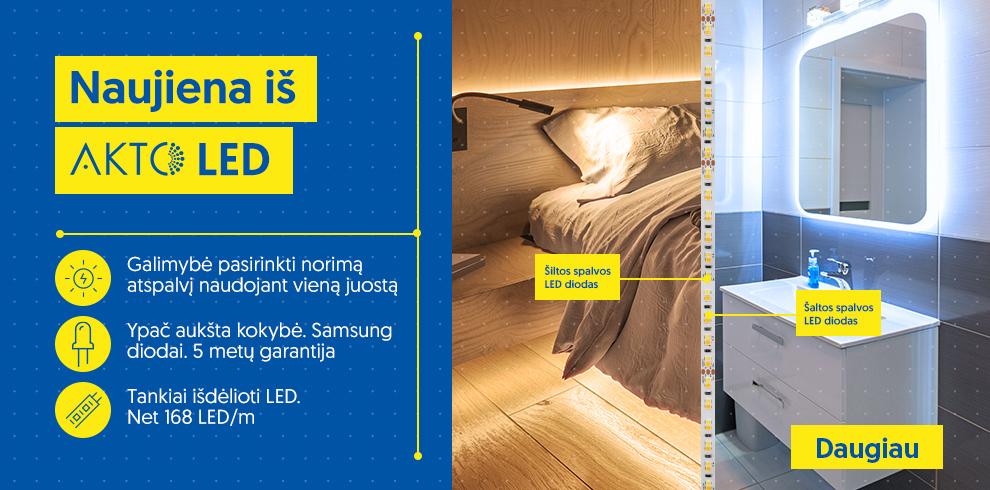 AKTO naujos TUNABLE WHITE (CCT) lanksčios LED juostos!
