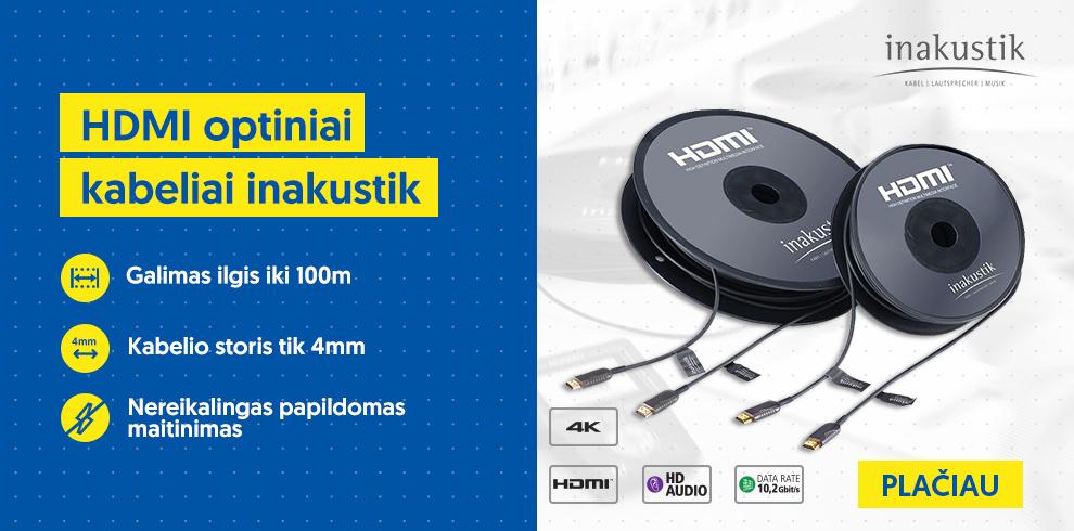 HDMI optiniai kabeliai inakustik
