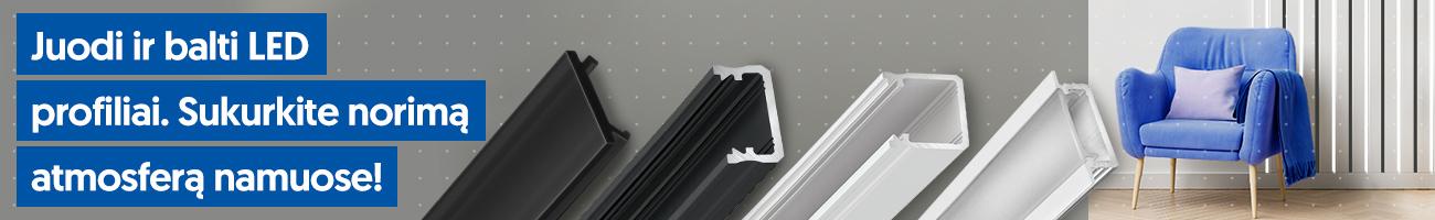 balti ir juodi led profiliai