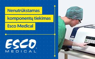 Esco Medical Technologies komponentų tiekimas