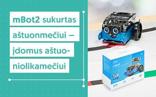 Naujiena! mBot2 konstruktorius