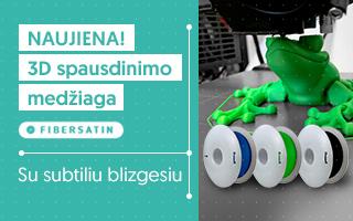 FiberSatin Nauja matinė 3D spausdinimo medžiaga su subtiliu blizgesiu