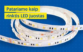 Patariame kaip rinktis LED juostas